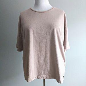 ASOS Curve Cotton Slub T-shirt Pink